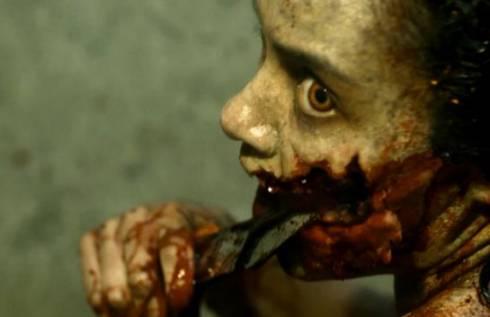 evil dead bande annonce remake d 39 un carnage dans une cabane au fond des bois. Black Bedroom Furniture Sets. Home Design Ideas